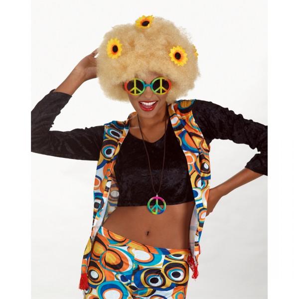 Hippie Partybrille mit Peacezeichen
