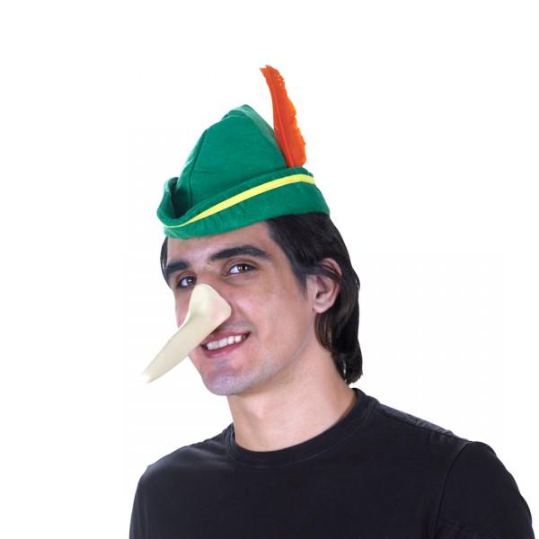 Fabelwesenmaske Hut mit langer Nase