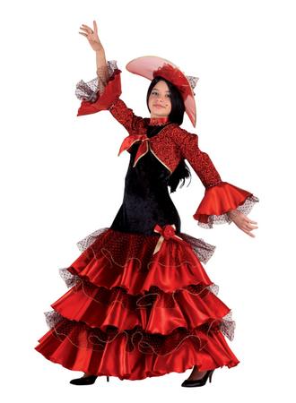 Carmen Kostüm Kleid, Karnevalskostüm Carmen für Kinder