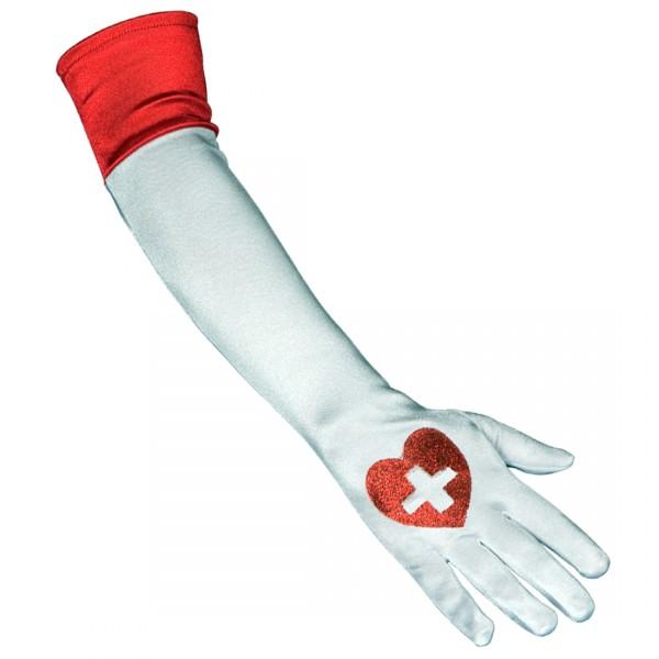 Krankenschwester Handschuhe 47cm lang