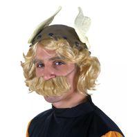 Gallierhelm mit Haaransatz und Schnurrbart