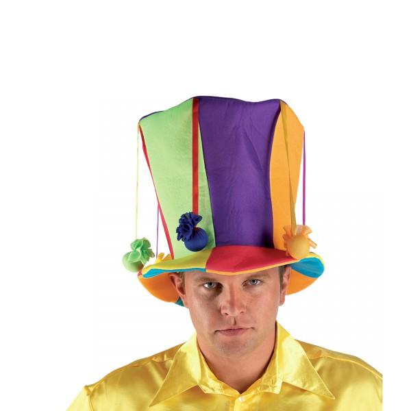 Clownmütze Clownhut bunt Karnevalshut