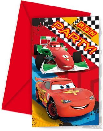 Partyeinladungskarten Cars RSN