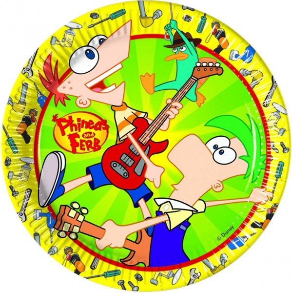 Partyteller 23cm Phineas And Ferb