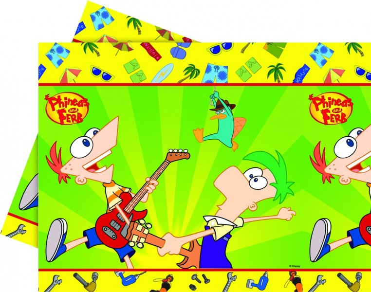 Partytischdecke Phineas And Ferb