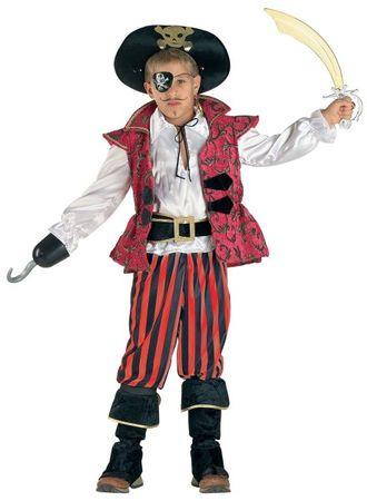 Kostüm Jungen Pirat - Kinderkostüm Pirat mit Piratenhut
