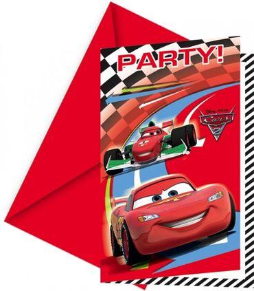 Partyeinladungskarten Cars 2