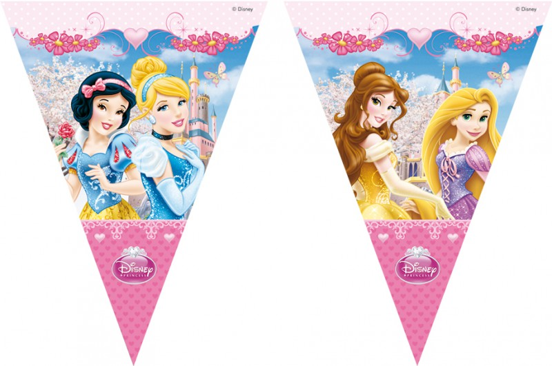 Partyflaggenbanner Princess Glamour