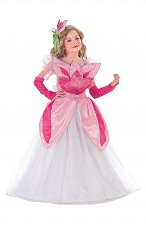 Blumenmädchen Kostüm, Kinderkostüm Blume, rosa & pink