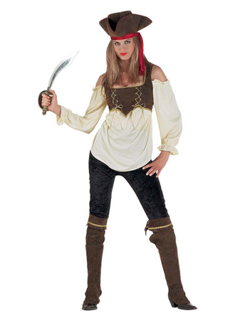 Piratinkostüm Piratenkostüm Carribeankostüm edle Piratin