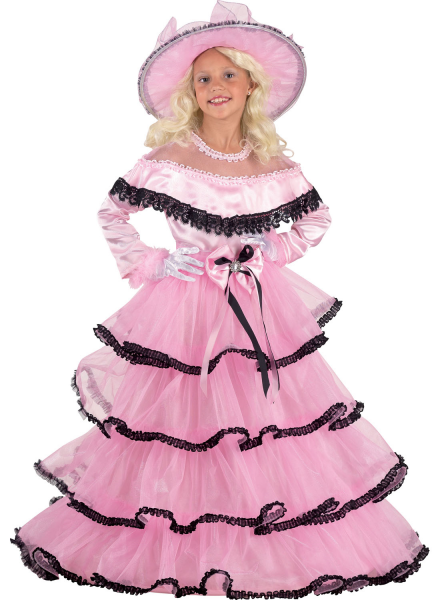 Saloonladykostüm Südstaatenlady Kostüm Edles Kinderkostüm