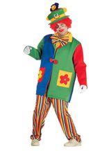 Clownskostüm Karnevalskostüm Clown deluxe Kostüm