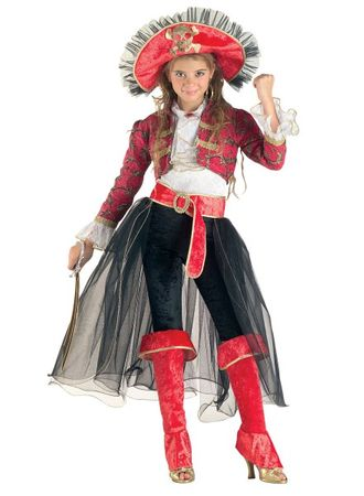 Kinderkostüm Piratin, Mädchenkostüm Piratin de luxe