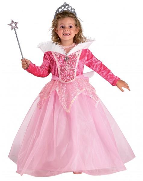 Kinderkostüm Prinzessin, rosa Prinzessin Kostüm & Tiara