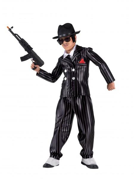 Gangster Kostüm Jungen, Kinderkostüm kleiner Gangster
