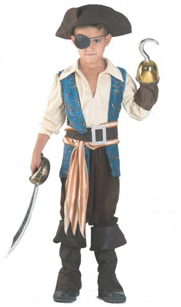 Kinderkostüm Pirat, Jungenkostüm Pirat de luxe, mit Hut