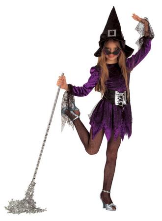 Hexenkostüm Spiennemädchen Spinnenkostüm Kinderkostüm Halloweenkostüm