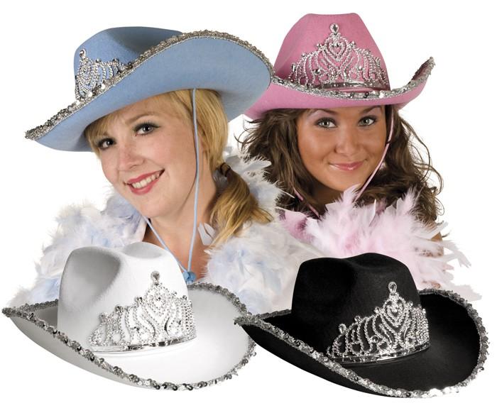 Cowboyhut Filzhut Glimmerhutweiss