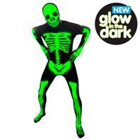 Morphuit Halloween Skelettmorphsuit Leuchtmorphsuit – Bild 2