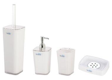 Bad Accessoires Set Rodi bianco 4tlg.WC-Bürste Seifenspender Zahnbürstenhalter Seifenschale von feridras