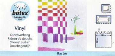 Duschvorhang Raster 78140  180x200 cm