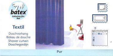 Duschvorhang PUR Farbe: blau 78422 BxH 180x200 cm