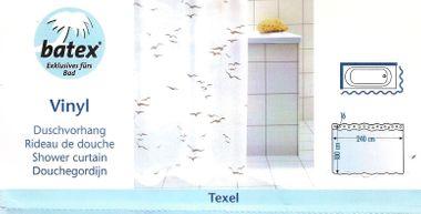 Duschvorhang Texel Weiss Möwen Blau 78204 BxH 240x180cm