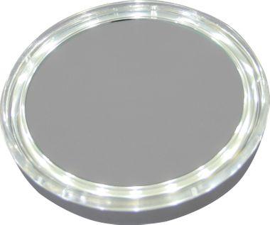 Taschenspiegel beleuchteter Hand-Kosmetikspiegel mit 5fach-Vergrößerung LED – Bild 1
