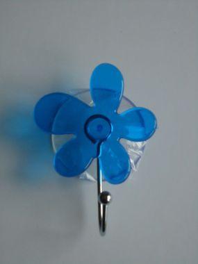 FERIDRAS Wandhaken Blume 6 farben transparent Saugnäpfen befestigt - kein Bohren, kein Kleben – Bild 4