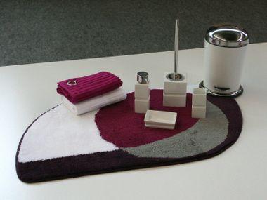 Badteppich kringel violett Badematte  Badgarnitur Badematten Badvorleger – Bild 2