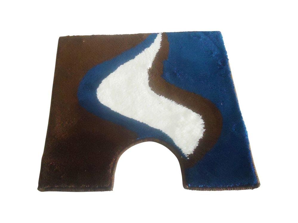 wc vorleger linda braun blau 60x60cm mit ausschnitt von. Black Bedroom Furniture Sets. Home Design Ideas