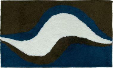 Badteppich Linda braun-blau 70x120cm von Sanwood