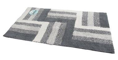 Badteppich Duo Multicolor grau/silber 50x90cm von Batex – Bild 1
