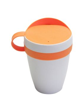 HELIT  Kaffeebecher Coffee Cup To Go Becher, Kaffeebecher 0,3 Liter orange  – Bild 1