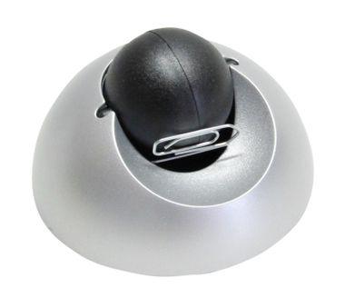 HELIT 4012086043914 Klammernspender H62206  silber/schwarz H 40, Ø 80 mm