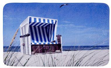 Badteppich Strandkorb - Duschvorleger, 100 % Polyester, mehrfarbig von WENKO – Bild 1