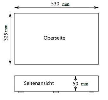 PE-Kunststoff-Schneidebrett GN 1/1 in grün 50 mm stark  – Bild 3
