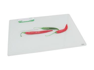 Glas- Schneideplatte, Motiv: Chili – Bild 1