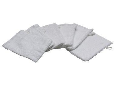 SANWOOD Waschhandschuhe 6er Set Frottier  in verschiedene Farben 100% Baumwolle  – Bild 7