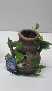 AQUARIUM DEKORATION  Krug mit Pflanze verschiedene Größen – Bild 4