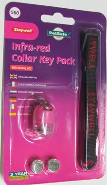 Staywell 500 - Infrarot, Zusatz- Ersatzschlüssel in 4 versch. Farben & Halsband – Bild 2