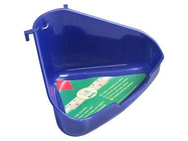 Ecktoilette NORA blau für Nager Größe: B 16 x T 12 x H 8cm