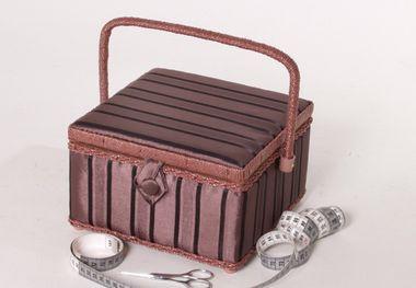 Locker Nähkorb quadratisch braun 07041-07