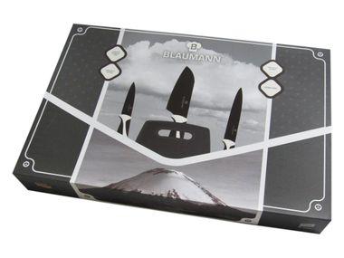 4-teiliges Messer-Set bestehend aus Santoku-Messer, Universalmesser, Schälmesser und Schneidbrett von BLAUMANN – Bild 2