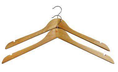 Kleiderbügel, 2er Pack, aus Holz
