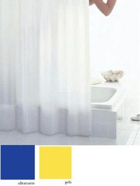 DUSCHVORHANG Classic gelb uni BxH 120x200cm  – Bild 1