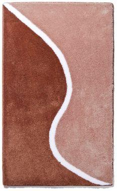 Badteppich LEANDRA beige 60x100 cm Badematte