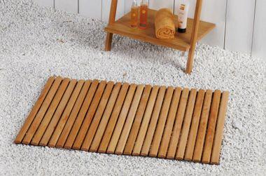 Badematte WANDA hell von NICOL Badvorleger Holzmatte Maße: ca. 100 x 60 cm