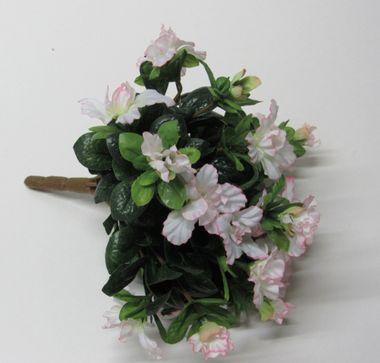 Deko-Strauß Kunstblumen Deko-Azaleen Blumenstrauß weiß Blüten 16 Stück  – Bild 1