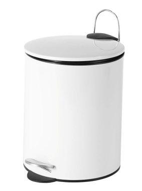 Treteimer Kosmetikeimer MAURICE 5 Liter von SANWOOD Farbe: weiß